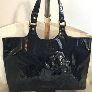 "Black Patent Leather Tory Burch ""Burch' bag"